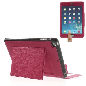 Oracle Grain for iPad Mini / Mini 2 Smart Leather Tablet Case w/ Touchable Window - Rose