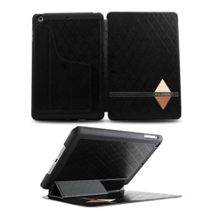 KLD for iPad Mini 2 / iPad Mini Dream Series Smart Leather Skin Cover w/ Stand - Black