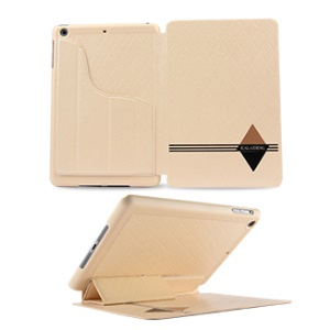 KLD for iPad Mini 2 / iPad Mini Dream Series Smart Leather Shield Cover w/ Stand - Beige