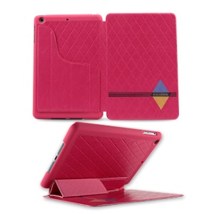 KLD Dream Series Smart Leather Tablet Stand Cover for iPad Mini 2 / iPad Mini - Rose
