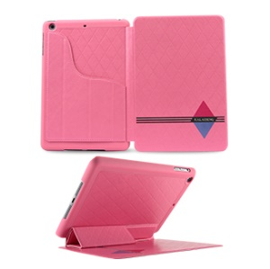 KLD Dream Series Smart Leather Stand Case Cover for iPad Mini 2 / iPad Mini - Pink