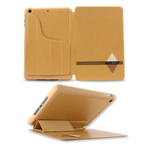 KLD Dream Series for iPad Mini 2 / iPad Mini Smart Leather Protective Stand Case - Gold