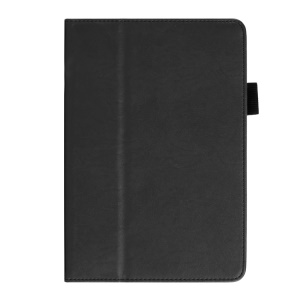 Cowhide Texture PU Leather Smart Stand Case for iPad Mini / Mini 2 w/ Handheld Belt - Black
