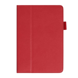 Cowhide Texture PU Leather Smart Case Cover for iPad Mini / Mini 2 w/ Handheld Belt - Red