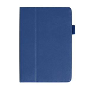 Cowhide Texture for iPad Mini / Mini 2 PU Leather Smart Tablet Case w/ Handheld Belt - Blue