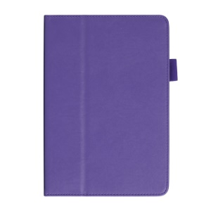 For iPad Mini / Mini 2 Cowhide Texture PU Leather Smart Shell Case w/ Handheld Belt - Purple