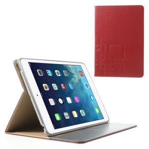 Crazy Horse for iPad Mini / iPad Mini 2 Smart Leather Protective Case w/ Stand - Red