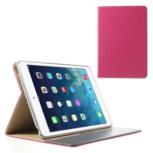 Crazy Horse for iPad Mini / iPad Mini 2 Smart Leather Protector Cover w/ Stand - Rose