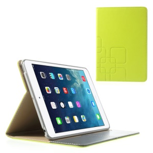 Crazy Horse for iPad Mini / iPad Mini 2 Smart Leather Case w/ Card Slot - Yellowgreen