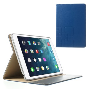 For iPad Mini / iPad Mini 2 Crazy Horse Flip Leather Smart Stand Cover - Royal Blue