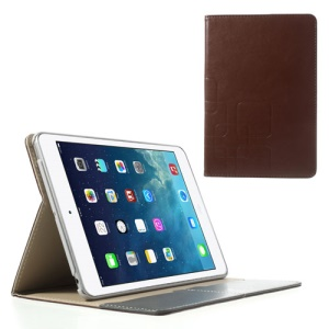 Crazy Horse PU Leather + Plastic Smart Case Shell for iPad Mini / iPad Mini 2 - Coffee