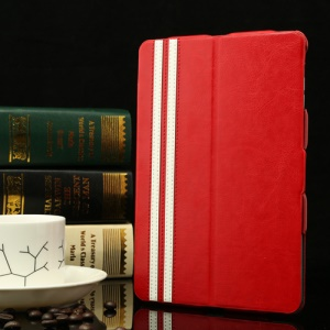 Crazy Horse Super Thin Smart Leather Stand Cover for iPad Mini / iPad Mini 2 - Red