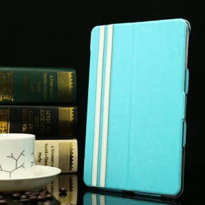 Super Thin for iPad Mini / iPad Mini 2 Crazy Horse Smart Leather Cover - Light Blue