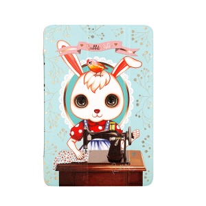 8thdays Rabbit GIGI II Smart Leather Stand Cover for iPad Mini / iPad Mini 2 - Drinking Tea