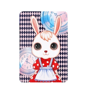 8thdays Rabbit GIGI II Smart Leather Case w/ Stand for iPad Mini / iPad Mini 2 - Clock