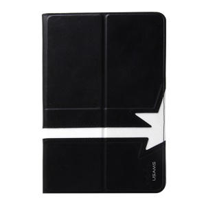 USAMS Star Series Flip Leather Smart Cover w/ 360 Degree Rotating Stand for iPad Mini / iPad Mini 2 Retina Display - Black