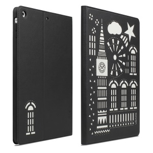 USAMS Tower Series Leather Smart Cover Stand for iPad Mini / iPad Mini 2 Retina Display - Black