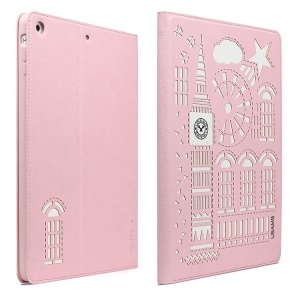 USAMS Tower Series Leather Smart Case Stand for iPad Mini / iPad Mini 2 Retina Display - Pink