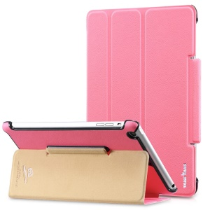 Takefans Easy New Series Smart Flip Leather Stand Cover for iPad Mini 2 / iPad Mini - Pink