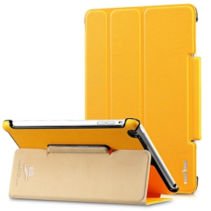 Takefans Easy New Series Smart Flip Leather Stand Case for iPad Mini 2 / iPad Mini - Yellow
