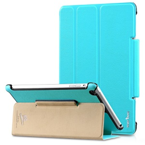 Takefans Easy New Series Slim Smart Leather Stand Cover for iPad Mini 2 / iPad Mini - Blue
