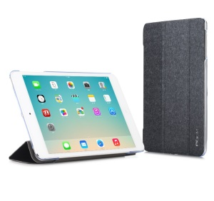 Black ROCK Colorful Series for iPad Mini 2 / iPad Mini Smart Wake up / Sleep Tri-fold Leather Stand Case