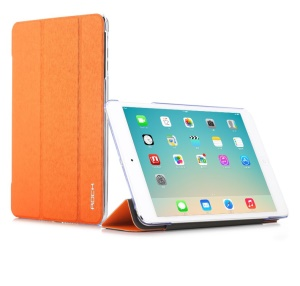 Orange ROCK Colorful Series Wake up / Sleep Tri-fold Stand Leather Cover for iPad Mini 2 Retina / iPad Mini