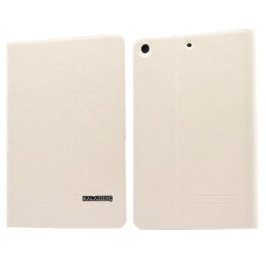 White KLD KA Series for iPad Mini 2 / iPad Mini Auto Wake / Sleep Leather Case w/ Card Slots & Stand