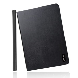 Black USAMS Lange Series Smart 360 Degree Rotatable Leather Flip Case Stand for iPad Mini 2 Retina / iPad Mini