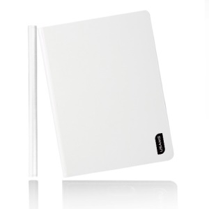 White USAMS Lange Series Smart 360 Degree Rotatable Leather Case Stand for iPad Mini 2 Retina / iPad Mini
