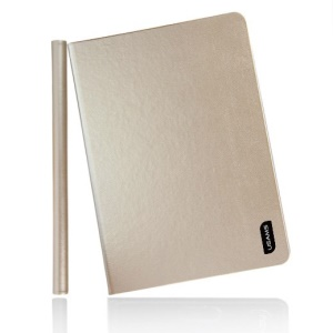 Champage Gold USAMS Lange Series for iPad Mini 2 Retina / iPad Mini Smart 360 Degree Rotary Leather Cover Stand