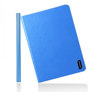 Blue USAMS Lange Series for iPad Mini 2 Retina / iPad Mini Smart 360 Degree Rotary Leather Shell Stand
