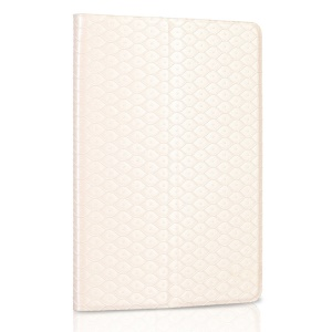 White ZHUDIAO Mermaid Series Smart Card Slots Leather Cover w/ Stand for iPad Mini 2 Retina / iPad Mini