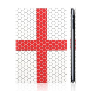 TOTU World Cup Series Football Grain England State Flag Smart Leather Stand Cover for iPad Mini 2 / iPad Mini
