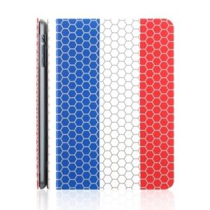 TOTU World Cup Series Football Grain French Flag Smart Leather Stand Case for iPad Mini 2 / iPad Mini