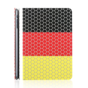 TOTU World Cup Series for iPad Mini 2 / iPad Mini Football Grain Flag of Germany Smart Leather Case w/ Stand