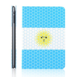 TOTU World Cup Series for iPad Mini 2 / iPad Mini Football Grain Argentina Flag Smart Leather Shell w/ Stand