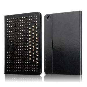 TOTU Modern Series for iPad Mini 2 / iPad Mini Starry Sky Rivet Studded Smart Leather Case w/ Stand - Black