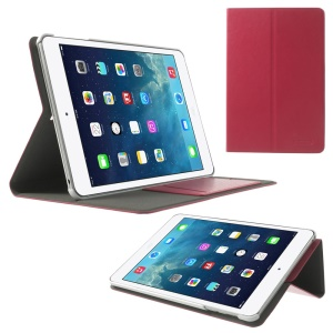 POMOSER Smart Leather Stand Case w/ Card Holder for iPad Mini 2 Retina / iPad Mini - Red
