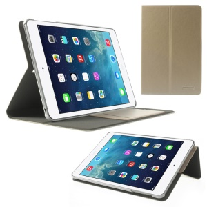 POMOSER Card Holder Smart Stand Leather Shell for iPad Mini 2 Retina / iPad Mini - Champagne