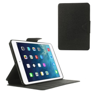 Roar Korea Diary Smart Leather Stand Case w/ Card Slots for iPad mini 2 / iPad mini - Black