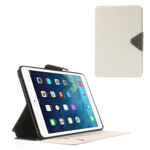 Roar Korea Diary Smart Leather Card Slot Stand Case for iPad mini 2 / iPad mini - Black / White