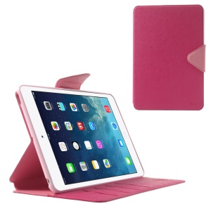 Roar Korea Diary Smart Leather Card Slot Stand Cover for iPad mini 2 / iPad mini - Pink / Rose