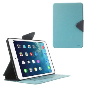 Roar Korea Diary for iPad mini 2 / iPad mini Smart Stand Leather Case - Dark Blue / Baby Blue