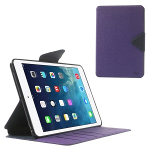Roar Korea Diary for iPad mini 2 / iPad mini Flip Smart Leather Cover Stand - Dark Blue / Purple