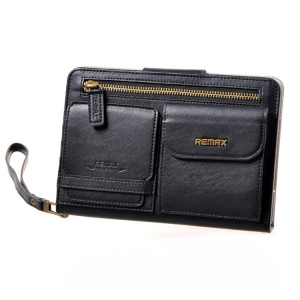 Remax Pedestrain Series Handbag Style Leather Case for iPad mini 2 / iPad mini - Black