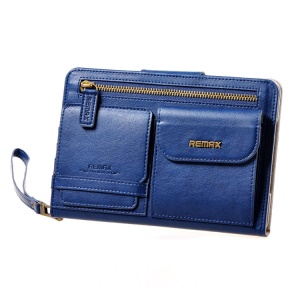 Remax Pedestrain Series Handbag Style Leather Cover for iPad mini 2 / iPad mini - Blue