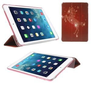 Tri-fold Stand Smart Leather Case Cover for iPad mini 2 / iPad mini - Fine Horse