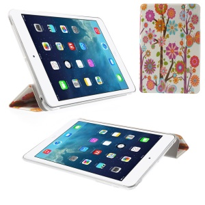 Tri-fold Stand Smart Leather Case for iPad mini 2 / iPad mini - Colorized Flowers & Butterflies