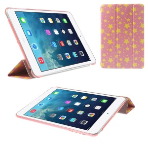 Tri-fold Stand Smart Leather Cover for iPad mini 2 / iPad mini - Five-pointed Stars